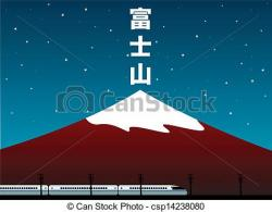 Mount Fuji clipart moutain