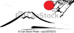 Mount Fuji clipart mt fuji