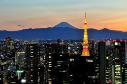 Mount Fuji clipart tokyo tower