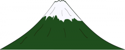 Hill clipart mountain peak