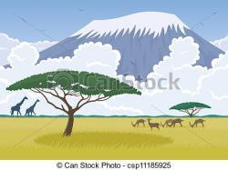 Savannah clipart african landscape