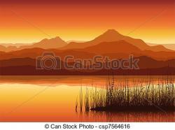 Sream clipart mountain sunset