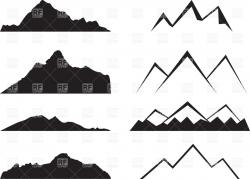 Mountain Ridge clipart simple