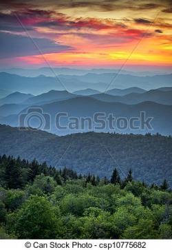 Mountain Ridge clipart sunrise