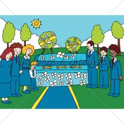 Cenetery clipart funeral home