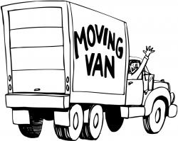 Truck clipart moving picture