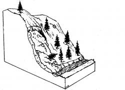 Avalanche clipart black and white