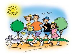 Hiking clipart family gardening