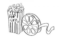 Movie clipart black and white