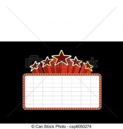 Movie clipart blank movie marquee