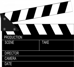 Movie clipart clapper board