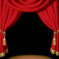 Curtain clipart spotlight