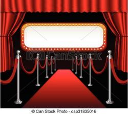 Red Carpet clipart theater art