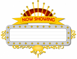 Sign clipart cinema