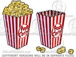 Movie clipart popcorn box