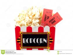 Popcorn clipart ticket