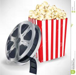 Popcorn clipart film reel