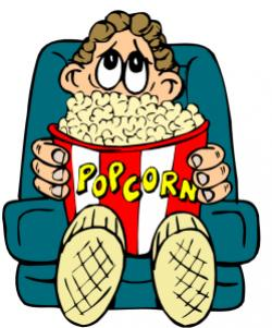 Movie clipart scared