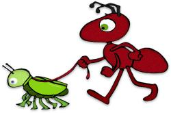 Funny clipart ant