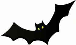 Moving clipart bat