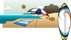 Umbrella clipart beach towel