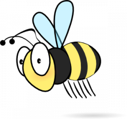 Moving clipart bee