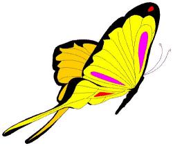 Moving clipart butterfly