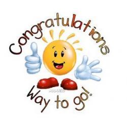 Winning clipart congratulation team