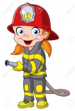 Cartoon clipart fireman