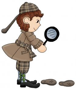 Sherlock Holmes clipart kid detective