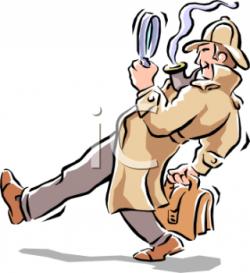 Sherlock Holmes clipart clue