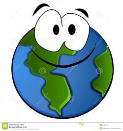 Drawn earth caricature