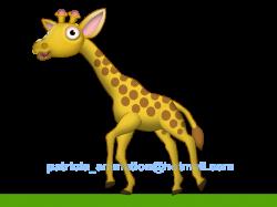 Giraffe clipart run