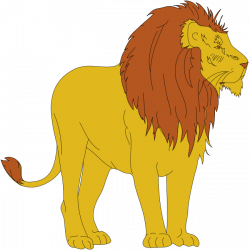 Moving clipart lion