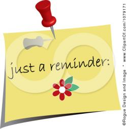 Notice clipart friendly reminder