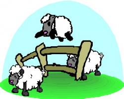Moving clipart sheep