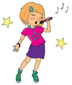 Singer clipart microphone
