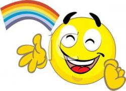 Moving clipart smiley face