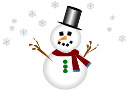 Moving clipart snowman