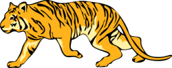 Moving clipart tiger
