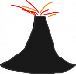 Volcano clipart moving picture