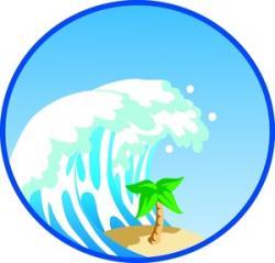 Tsunami clipart cartoon
