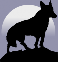 Moving clipart wolf