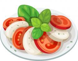 Mozzarella clipart tomato