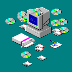 Vaporwave clipart windows 98