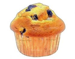Blueberry Muffin clipart bakery item
