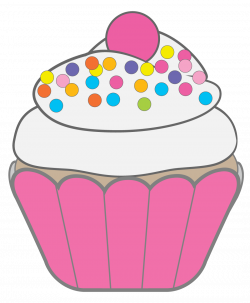 Cupcake clipart whimsical