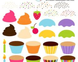 Icing clipart small cake