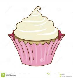 Vanilla Cupcake clipart graphic design
