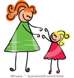 Mommy clipart mother daughter